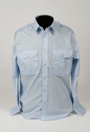 pilot shirt l.blauw lange mouw - vaste epauletten_314_460_100