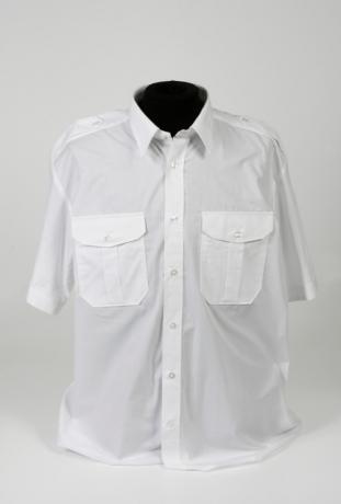 pilot shirt wit korte mouw - vaste epauletten_311_460_100