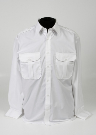 pilot shirt wit lange mouw - vaste epauletten_327_460_100